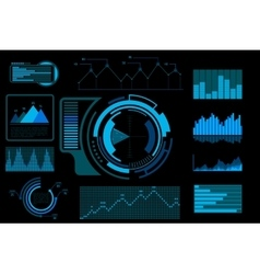Futuristic blue touch user interface vector