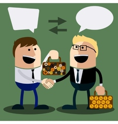 Happy business man make handshake vector image vector image