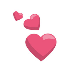 Hearts love symbol vector