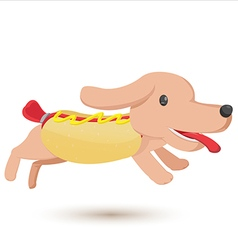 Hotdog cartoon comic cute style vector
