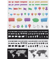 infographic pointer set vector image