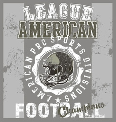 League american football vector image vector image