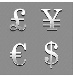 Money signs 2 vector