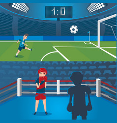 professional sport horizontal banners vector image