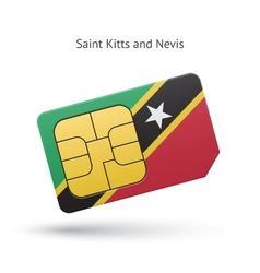 Saint kitts and nevis mobile phone sim card with vector