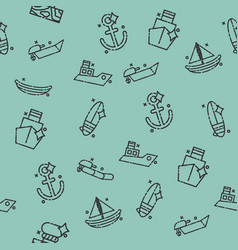 Sea transport concept icons pattern vector