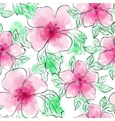 Seamless Floral Pattern Flower pattern vector image vector image