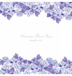 Spring summer lilac floral greeting card vector