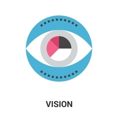 vision icon concept vector image