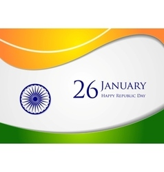 Wavy background Colors of India vector image vector image