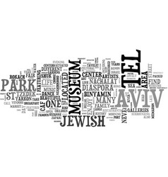What to do with a day in tel aviv text word cloud vector
