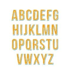 Hand drawn sketch alphabet vector