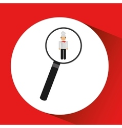 Human resources searching chef graphic vector