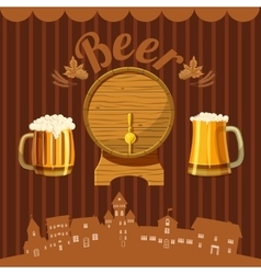 Brewery concept cartoon style vector