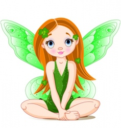 St patrick's day fairy vector