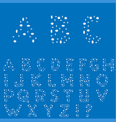 Creative english alphabet vector
