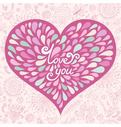 Pink valentine greeting card vector