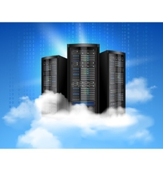 Cloud computing poster vector