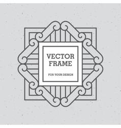 Single mono line frame vector