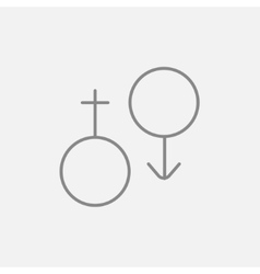 Male and female symbol line icon vector