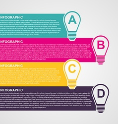 Infographic design style colorful light bulb vector