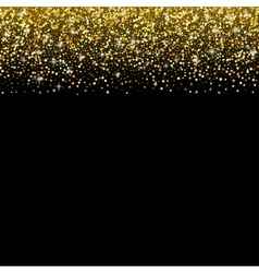 Black background with gold glitter sparkle vector