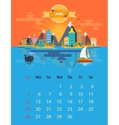 Calendar of june vector