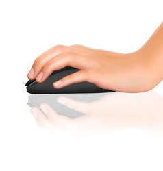 Computer mouse with hand vector