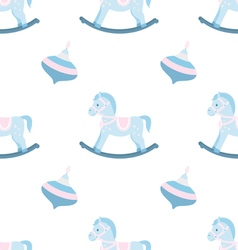 Seamless pattern of rocking horse vector image