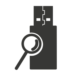 Usb connection plug icon vector