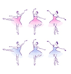 Ballet woman-dancers vector