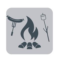 Barbecue sausage and zephyr icon vector