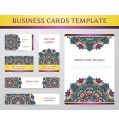 Business cards with mandala vector