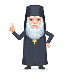 Christian orthodoxy priest beard old mystery wise vector