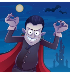 Dracula cartoon vector