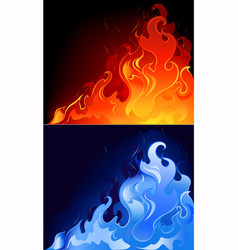 Gas flames vector