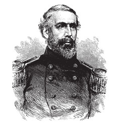 General j h hobart ward vintage vector