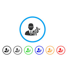 geneticist rounded icon vector image