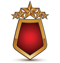 Heraldic template with five pentagonal golden vector