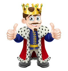king cartoon vector image vector image