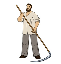 Manly man mower vector