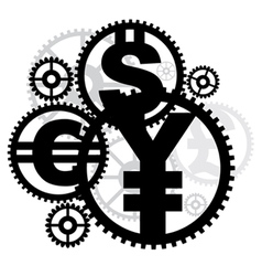 money gears vector image
