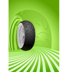 Motorcycle tire vector image vector image