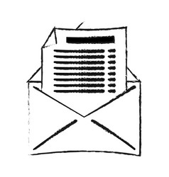 Open message envelope with outcoming document icon vector