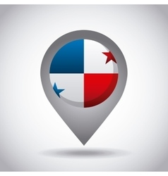 Panama flag pin vector