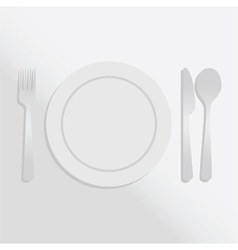 Plate gradient vector image vector image