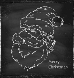 Santa chalk vector image