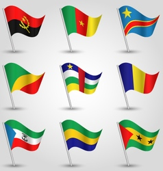 Set of flags central africa vector