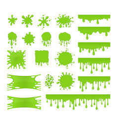 slime set vector image vector image