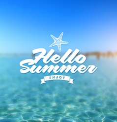 Summer holiday - Type design vector image